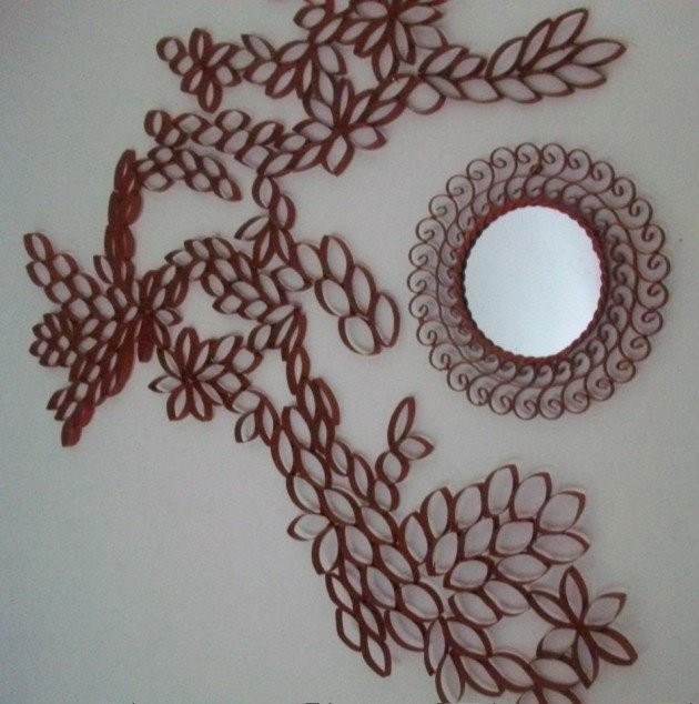 Creative Diy Toilet Paper Roll Wall Art regarding Tissue Paper Roll Wall Art 27514