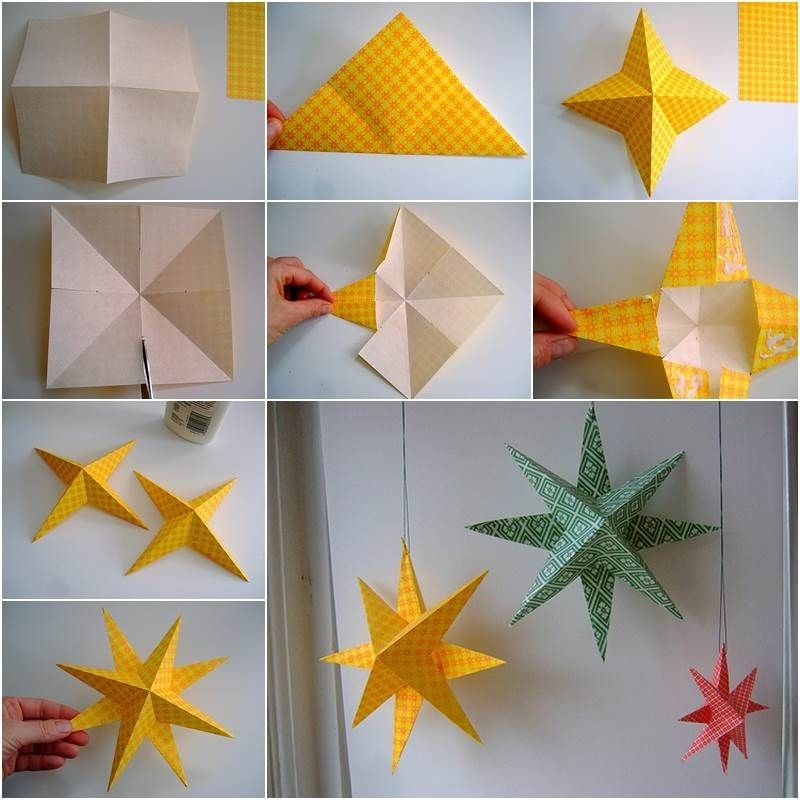 Creative Ideas - Diy Easy Paper Star Decor | Paper Stars, Creative with How To Make Paper Crafts For Adults 26845