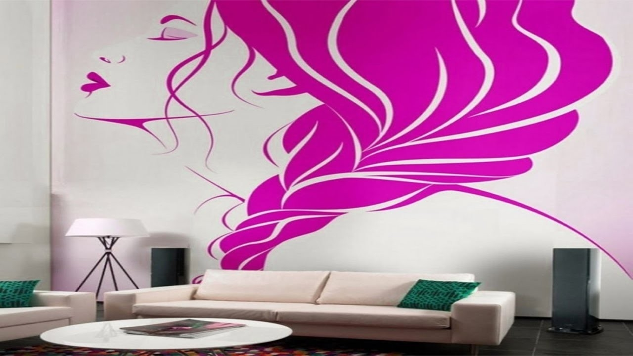 Creative Wall Painting Ideas For Living Room - Youtube regarding Creative Wall Painting Ideas For Living Room 30073