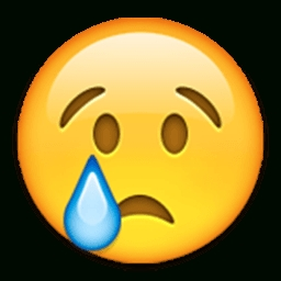 Crying Face Emoji For Facebook, Email & Sms | Id#: 57 | Emoji.co.uk pertaining to Facebook Crying Emoticon Stickers 28321