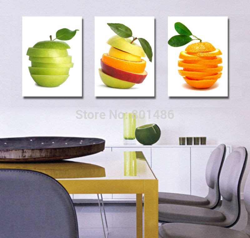 Cuadros De Frutas Para Cocinas - Buscar Con Google | Decoracion regarding Fruits Kitchen Wall Art 27099