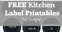 Free Customizable Labels