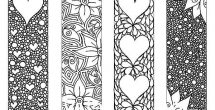 Cute Bookmarks To Print Black And White