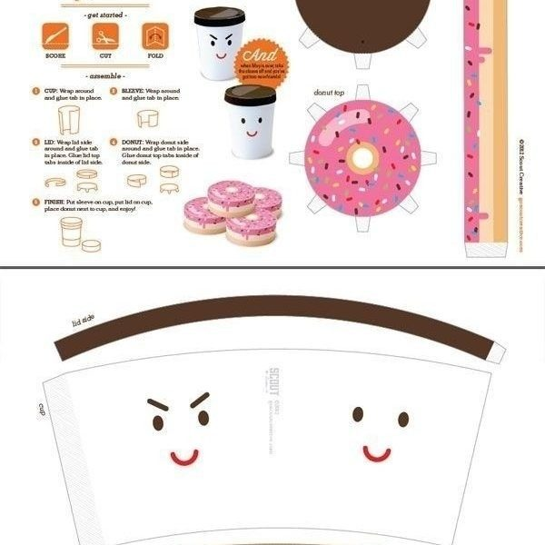 Cute Food Paper Crafts Templates | Business Template Inside