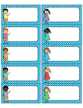 Cute Polka Dot And Kids Free Printables Using Avery 5163 Labels pertaining to Blank Labels For Kids 29381