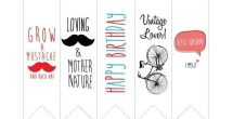 Cute Bookmarks To Print