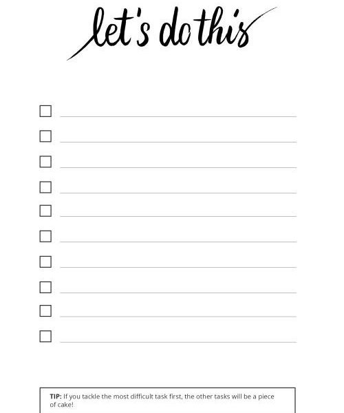 cute printable to do lists black and white examples and forms