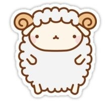 "Cute Sheep"" Stickers By Tofusan 
