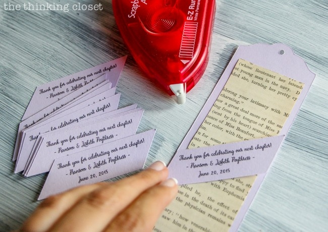 D.i.y. Bookmark Wedding Favors - The Thinking Closet for Diy Bookmarks For Wedding Favors 29682