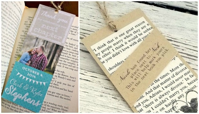 D.i.y. Bookmark Wedding Favors - The Thinking Closet in Diy Bookmarks For Wedding Favors 29682