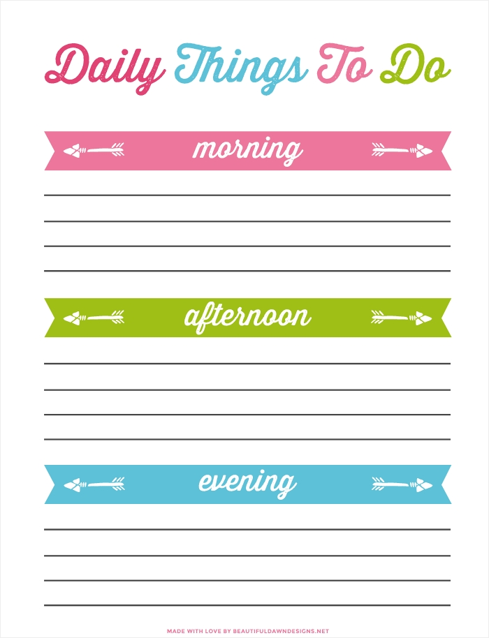 Daily To Do List Printable For Free - Beautiful Dawn Designs regarding Daily To Do List With Times 26292