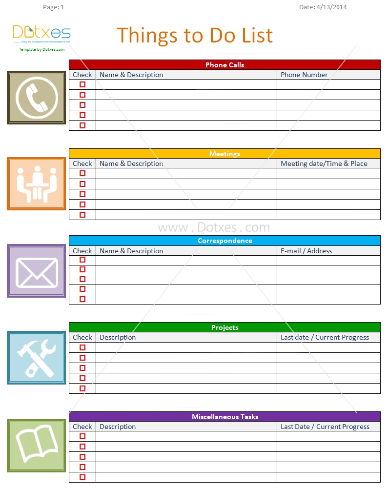 Daily Work To Do List Template - Zoro.blaszczak.co intended for Printable Weekly To Do List For Work 25353