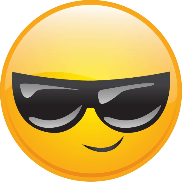 Dark Glasses | Smiley, Dark And Glass for Cool Smiley Face With Shades 30564