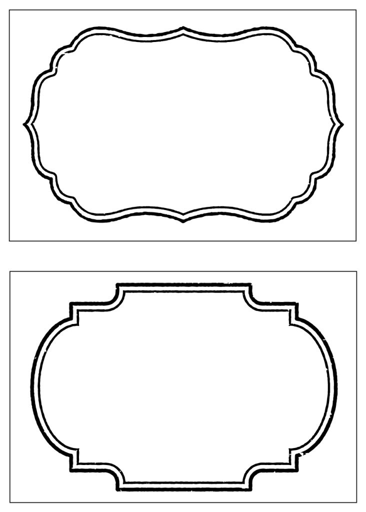 Decorative Label Template | World Of Label intended for Decorative Label Template 27730