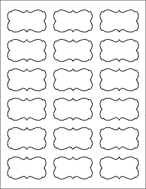 "Decorative Labels - Ol823 - 2.2441"" X 1.2992"" throughout Decorative Label Template 27730"