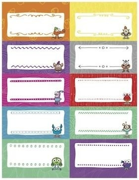Desk Name Tags And Labels {Free Downloads!} | Classroom Decor pertaining to Blank Labels For Kids 29381