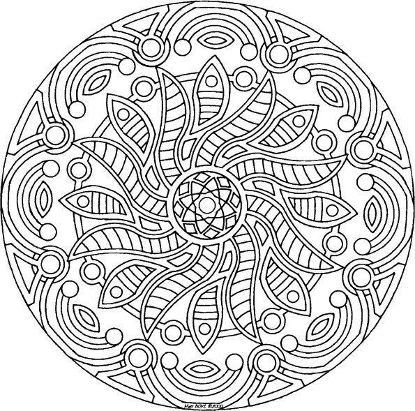 Detailed Coloring Pages For Adults | Coloring Pages 7 10 From 86 regarding Detailed Mandala Coloring Pages For Adults 29491