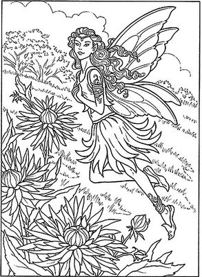 Detailed Coloring Pages For Adults | Here Is A Detailed Fairy with Detailed Coloring Pages Of Fairies 29472