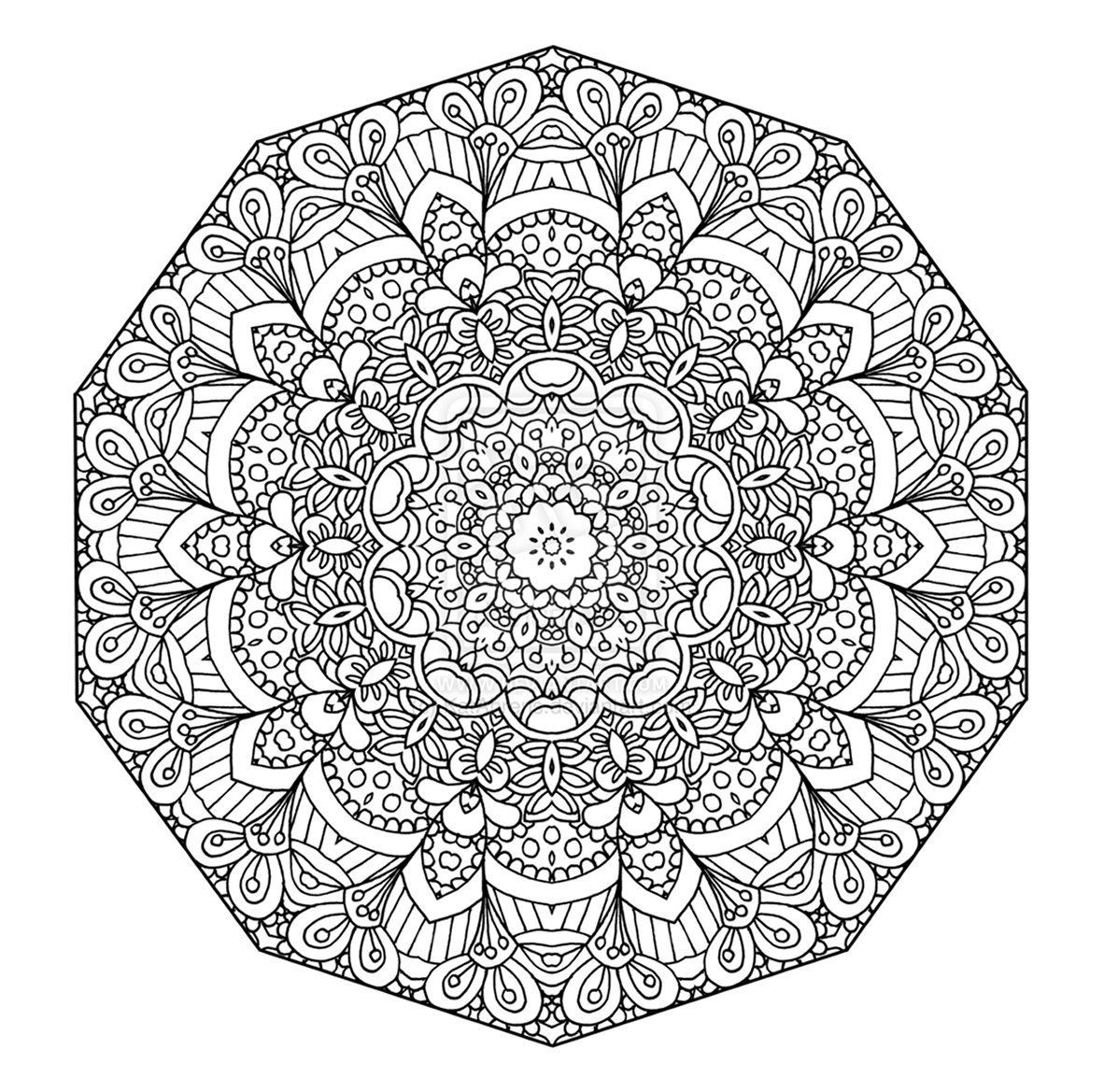 Detailed Coloring Pages For Teenagers | Detailed Abstract Coloring within Detailed Mandala Coloring Pages For Adults 29491