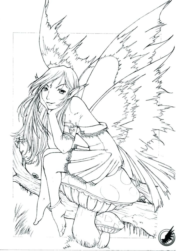 Detailed Fairy Coloring Pages Fairies Coloring Pages For Adults for Detailed Coloring Pages Of Fairies 29472