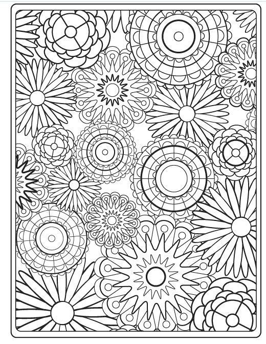 Detailed Flower Pattern Coloring Pages - Bltidm in Detailed Flower Pattern Coloring Pages 27079