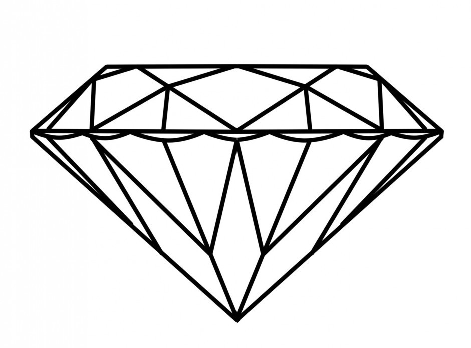Diamond Ring Coloring Page | Clipart Panda - Free Clipart Images with Diamond Shapes Clip Art 25723