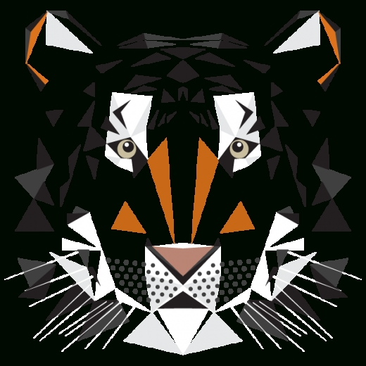 Digital Art | Geometric Shapes | Big Cat. Mat Mabe. Animal Alphabet. regarding Geometric Shape Art Png 24858