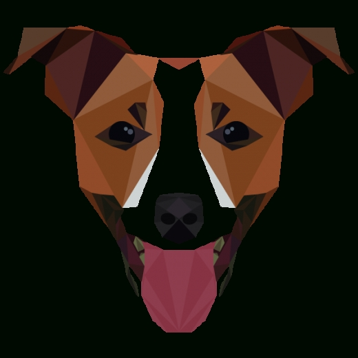 Digital Art | Geometric Shapes | Dog. Mat Mabe. Animal Alphabet. in Geometric Shape Art Animals 24828
