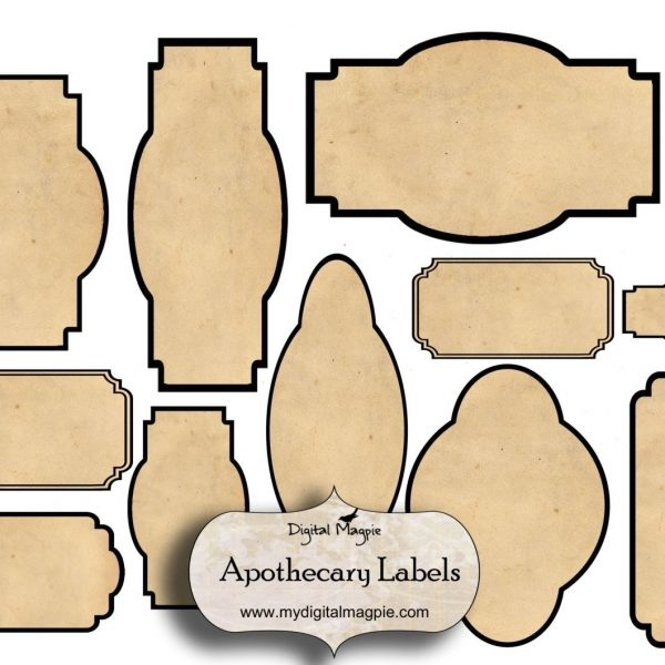 Digital collage sheet blank apothecary labels antique shabby inside digital collage sheet blank apothecary labels antique shabby inside blank vintage label template maxwellsz