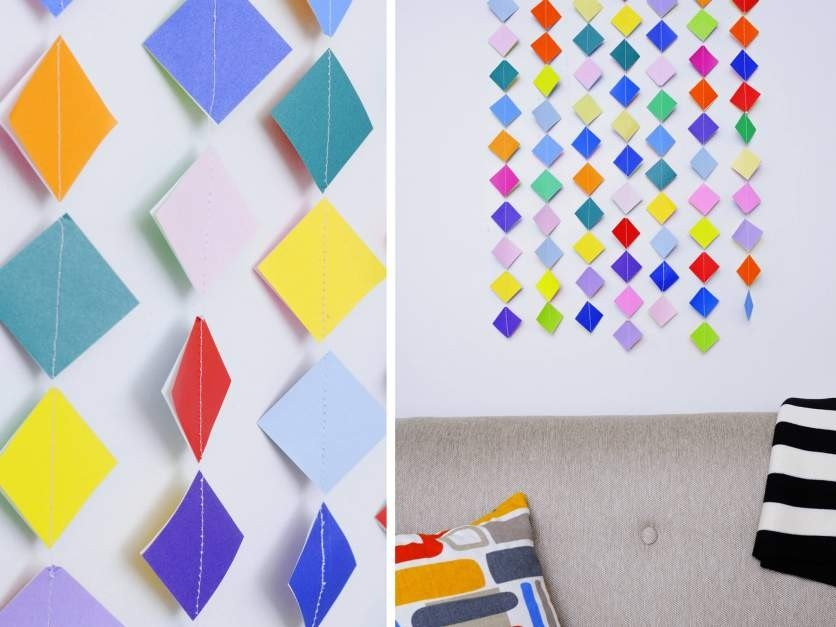 Diy: 10 Wall Hanging Ideas To Decorate Your Home - K4 Craft intended for How To Make Wall Hangings With Paper Step By Step 29300