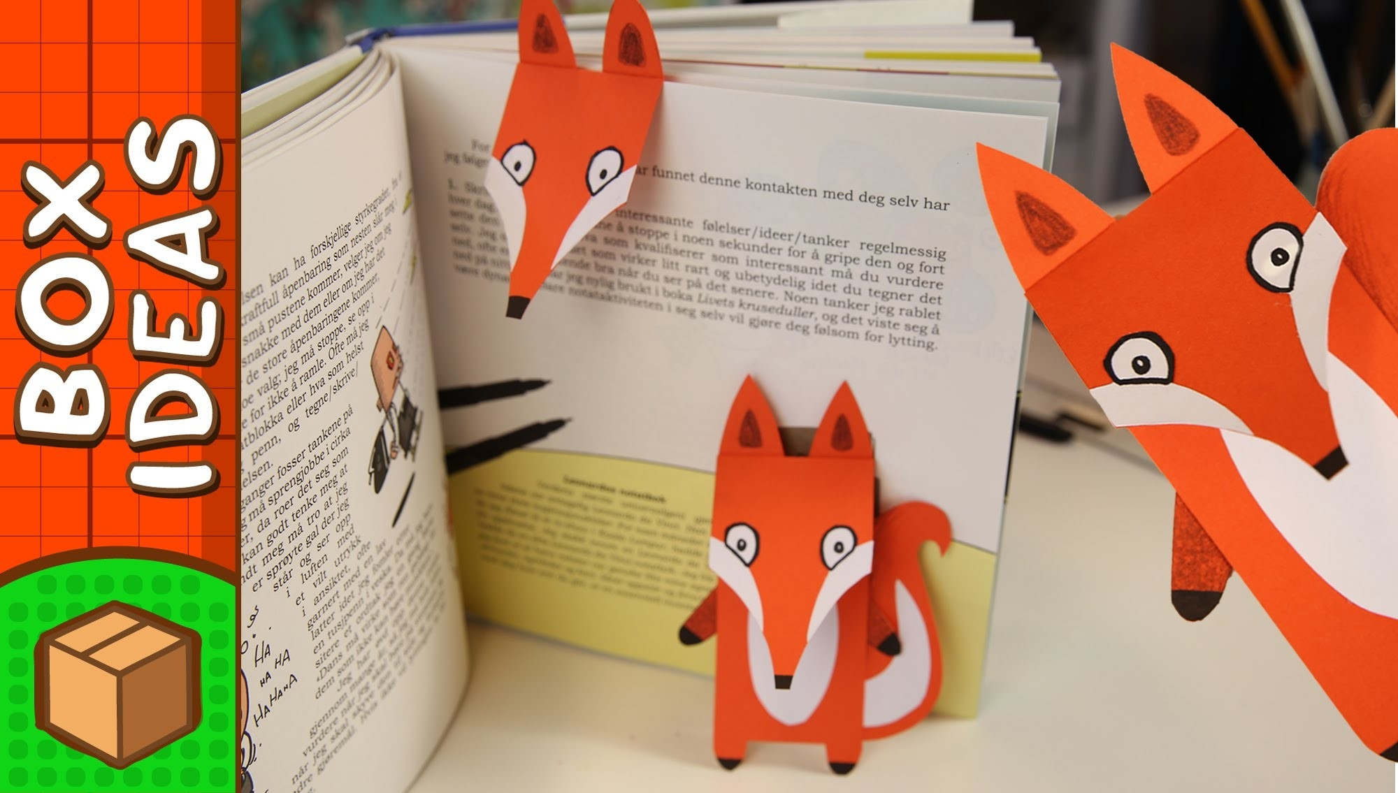 Diy Bookmark - Fox | Craft Ideas For Kids On Box Yourself - Youtube with regard to Creative Bookmark Designs For Kids 29692