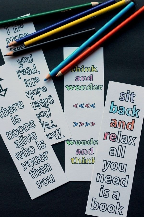 Diy Bookmarks With Quotes | World Of Example in Cute Bookmarks With Quotes 28020