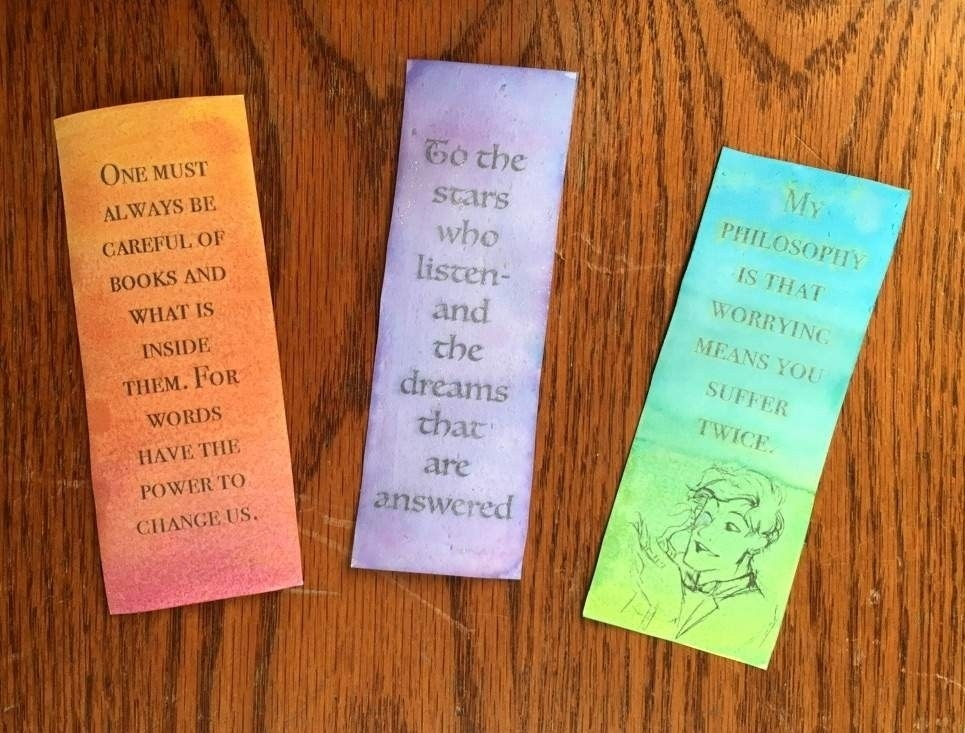 Diy Bookmarks With Quotes   World Of Example inside Diy Bookmarks With Quotes 27990