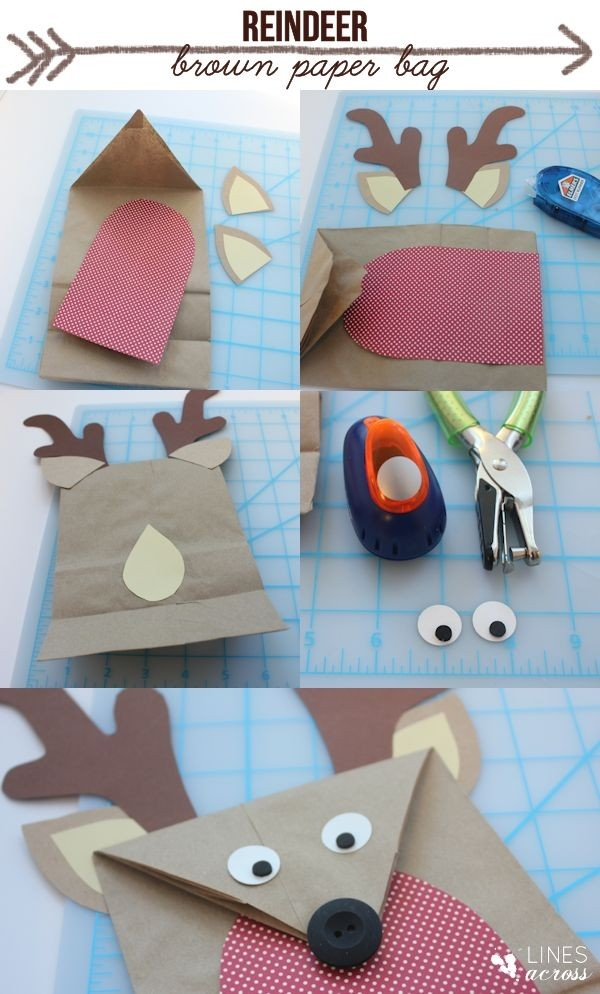 Diy Brown Paper Bag Reindeer | Natal | Pinterest | Brown Paper pertaining to How To Make Handmade Paper Bags At Home Step By Step 27595