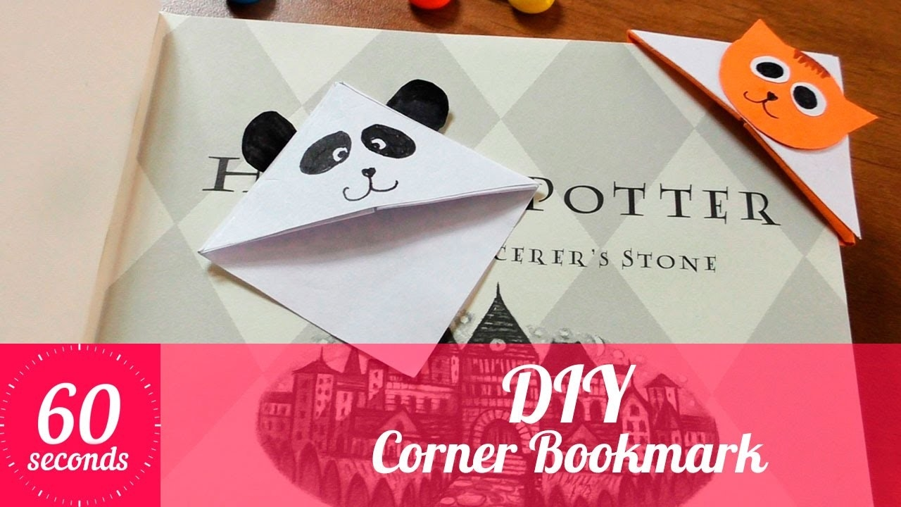 Diy Corner Bookmarks. How To Make A Cute Corner Bookmark? | In 60 within Cute Bookmarks To Make 28010