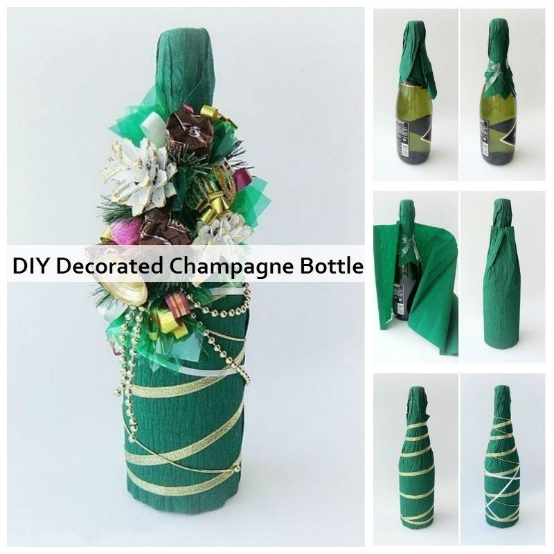 Diy Decorated Champagne Bottle | Diy Crafts And Ideas in How To Make Handmade Things For Decoration Step By Step 29035