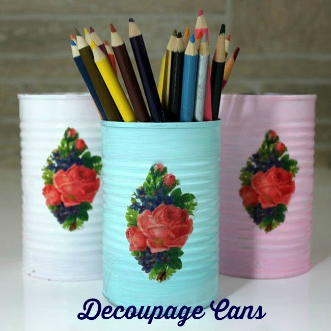 Diy Decoupage Cans With Printed Tissue Paper! - The Graphics Fairy in Tissue Paper Decoupage Crafts 27554