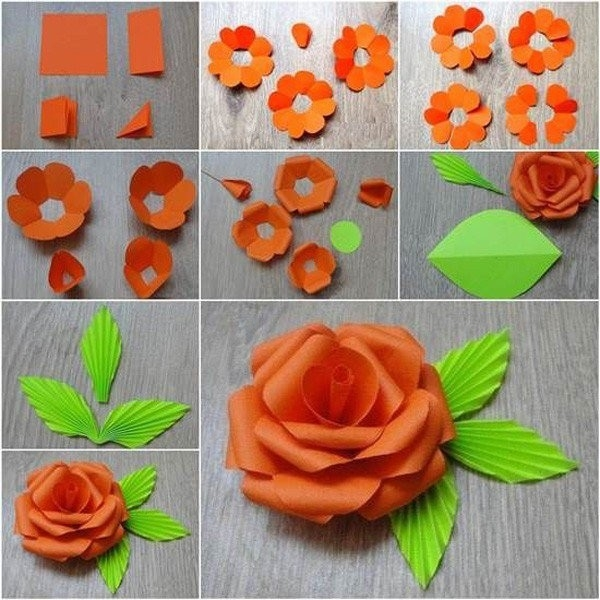 Diy Easy Origami Paper Rose Tutorial - Step By Step - Step By Step pertaining to How To Make Paper Roses Origami Step By Step 29086
