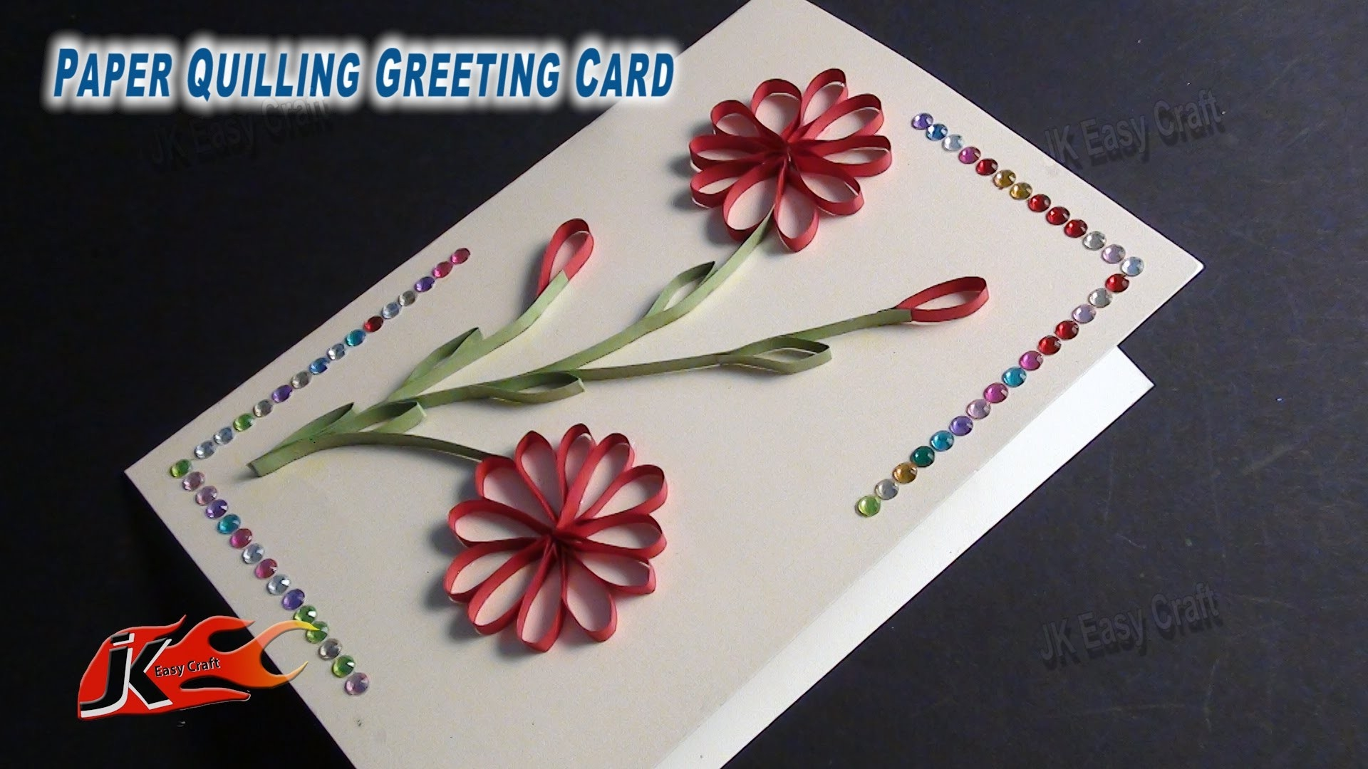 Diy Easy Paper Quilling Greeting Card Without Tool | How To Make within Paper Craft Ideas For Greeting Cards 28956