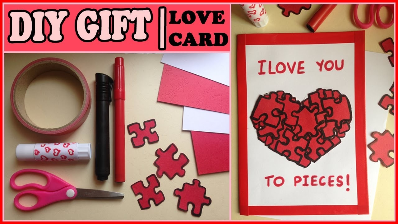 Diy Gift For Him Or Her | Puzzles Love Card ! - Youtube in Love Cards For Him Handmade 28192