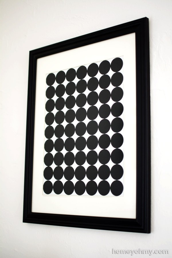 Diy Graphic Circle Wall Art - with Black And White Wall Art Diy 27281