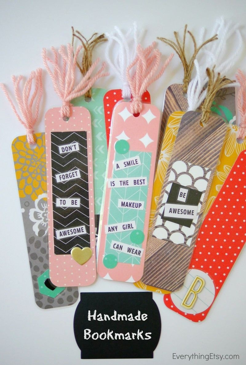 Diy Handmade Bookmarks | Stocking Stuffers, Bookmarks And Stockings inside Handmade Bookmark Tutorial 29702