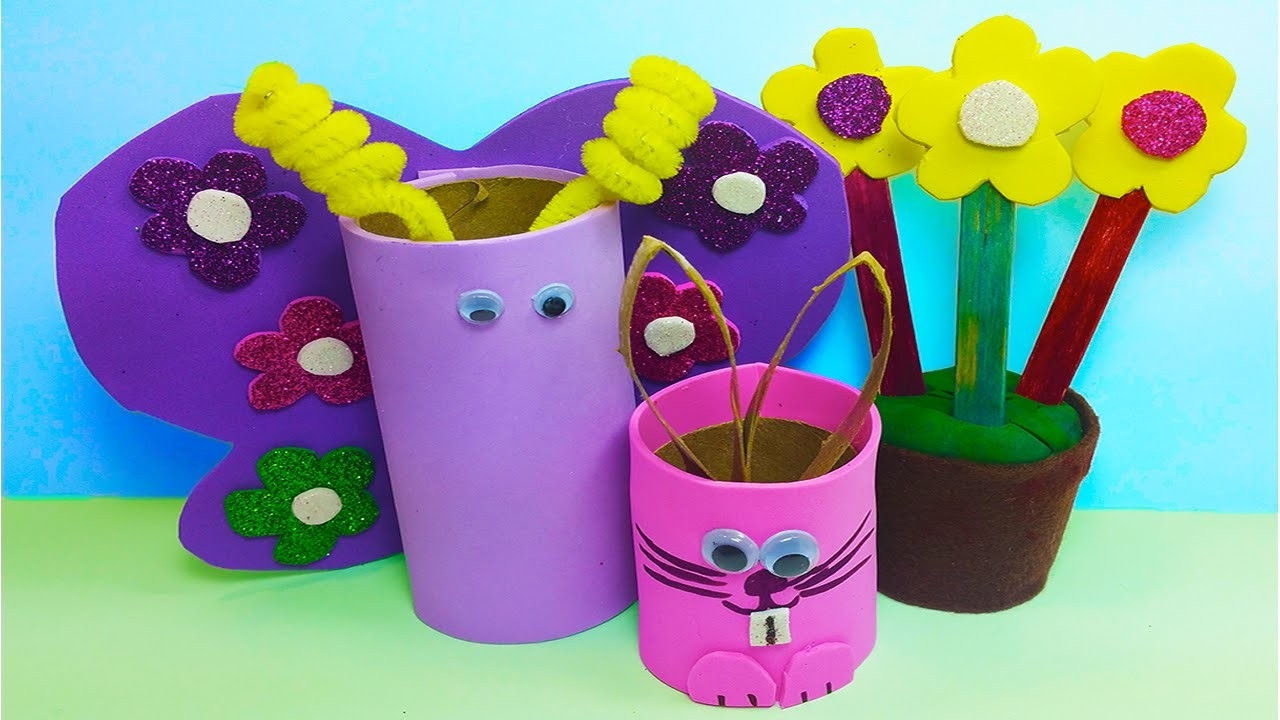 Diy: How To Make 3 Cute Handmade Spring Time / Easter Crafts For for Handmade Crafts For Kids To Make 27703