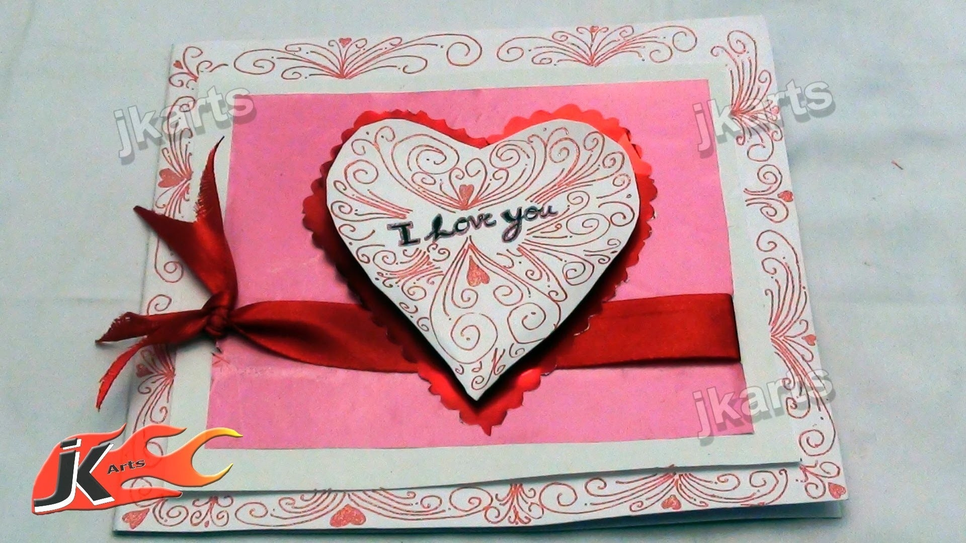 "Diy How To Make ""i Love You"" Greeting Card - Jk Arts 153 - Youtube throughout Handmade Love Cards For Husband 30198"