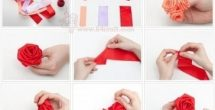 How To Make Handmade Flowers From Ribbon Step By Step