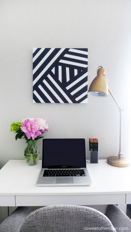 Diy Modern Black And White Abstract Art - Shelterness throughout Black And White Wall Art Diy 27281