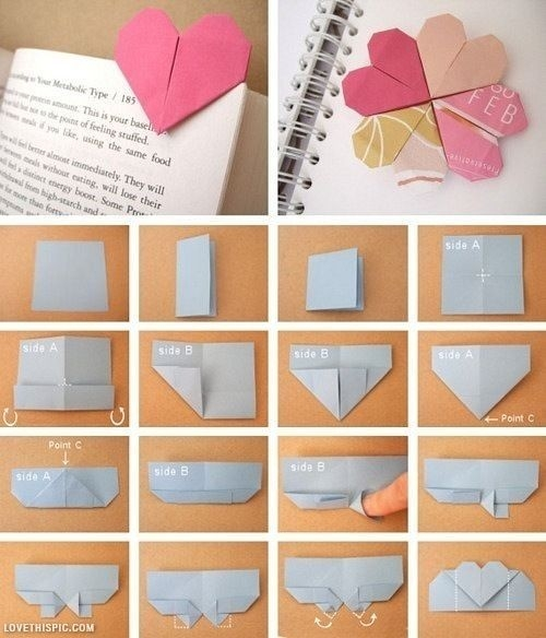 Diy Origami Paper Bookmark Tutorials - Step By Step - Step By Step regarding Handmade Bookmark Tutorial 29702