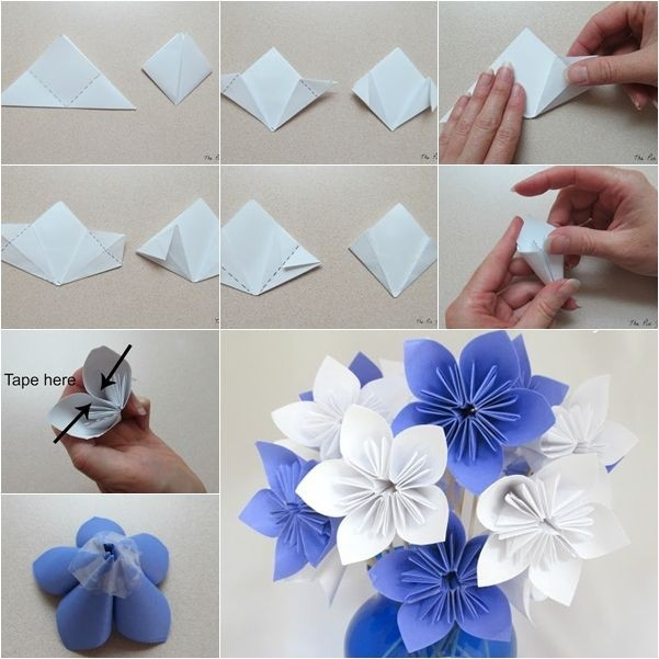 Diy Origami Paper Flower Bouquet - Howtoinstructions | Craft with How To Make Paper Roses Origami Step By Step 29086
