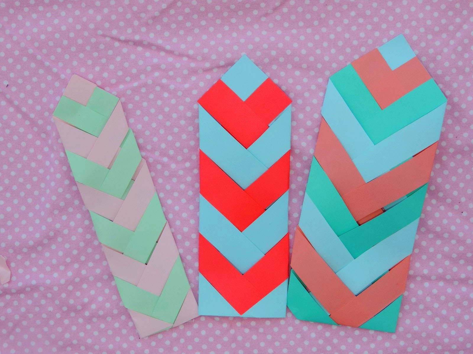 Diy Paper Chevron Bookmark Tutorial - Youtube regarding How To Make Bookmarks Out Of Paper 27912