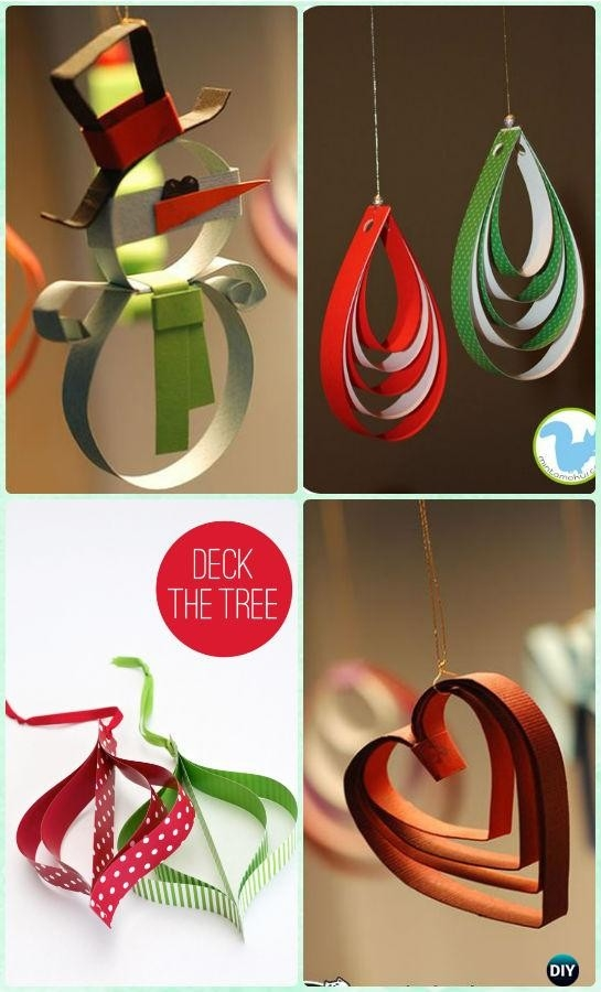 Diy Paper Christmas Tree Ornament Craft Ideas Instructions regarding Paper Craft Ideas For Decoration Step By Step 27460